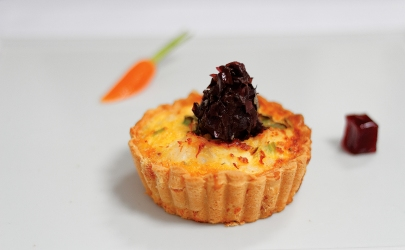 crab and prawn tartlet